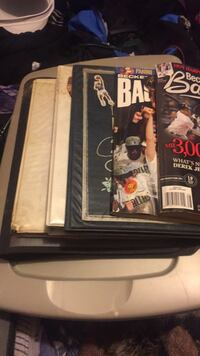 Binders of collection cards 2378 mi