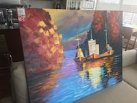 Large oil painting on canvas Toronto, M6S