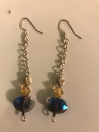 blueish purplish earrings Elizabeth, 07201