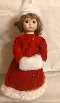 Christmas Around The World - Porcelain Collector Doll Red Dress