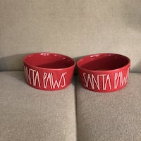Rae Dunn XL Red Christmas Dog Bowls Washington, 20001
