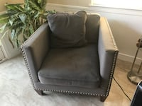 Gorgeous gray suede love seat with silver studs Palo Alto, 94306