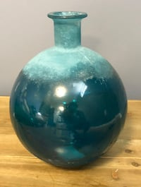 Turquoise Vase with Frosted Detail Frederick, 21701