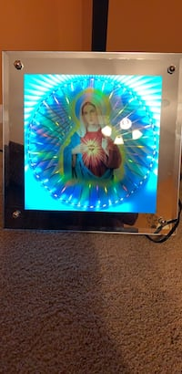 Blessed Mary  in a light up glass mirror frame Plymouth, 48170