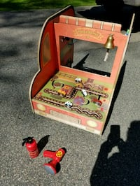PERFECT CONDITION ANATEX WOODEN FIRE TRUCK