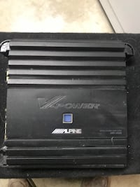 black Alpine V-Power power amplifier