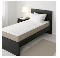 white and black bed frame Los Angeles, 90063