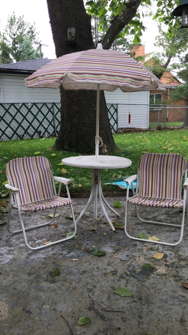 Stupendous Kids Outdoor Table Umbrella And 2 Chairs Download Free Architecture Designs Barepgrimeyleaguecom