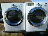 white front load washing machine and dryer Bethany