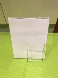 "New Displays 11"" x 8.5"" L-Shape Slanted Acrylic Sign Holder Richmond Hill"