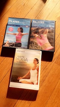 Pilates and Element DVD cases