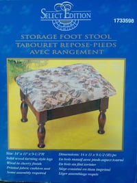 New storage foot stool Clarence-Rockland, K0A 1E0
