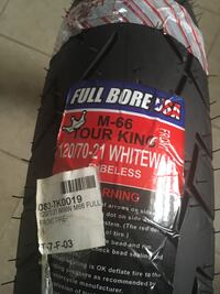 Motorcycle Full Bore tubeless front tire 120/70-21 Inglewood, 90305