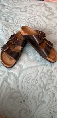 brown leather open toe ankle strap sandals Woodbridge, 22192