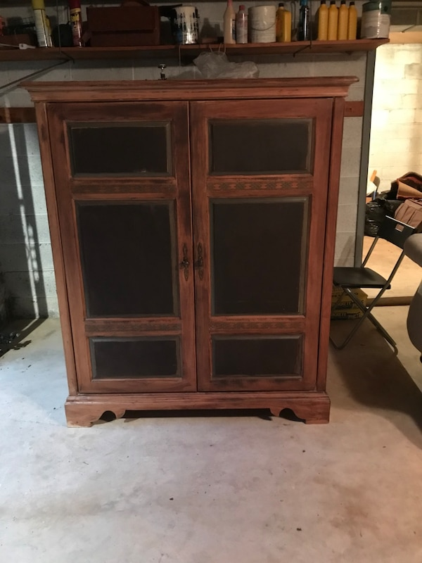 Armoire TV Stand Closet Heavy Solid Wood