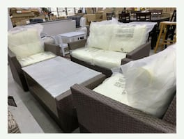 4 PC CONVERSATION SET WITH DOWN PAYMENT $39 BRAND NEW