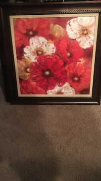 red and white flower painting West Palm Beach, 33417