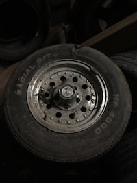 gray bullet hole car wheel with tire Kitchener