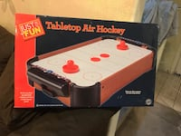 Red and white tabletop air hockey box Pittsburg, 94565