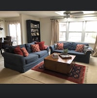 Blue Potterbarn slipcovered sofas (one or two)