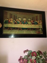 brown wooden framed painting of house Anaheim, 92805