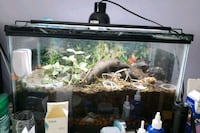 black framed clear glass fish tank Silver Spring, 20910