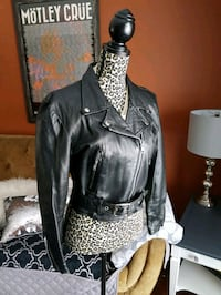Biker moto leather jacket