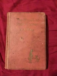 Old Book.  The House at Pooh Corner.  Written by A.A. Milne