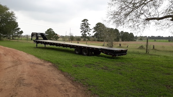 40 foot gooseneck trailer  Monster ramps   Was used for hotshot  work excellent condition  Has been serviced regularly