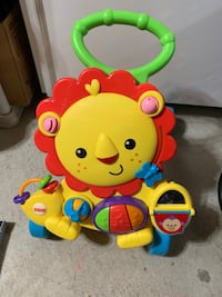 Eeuc learn to walk push lion. Also plays music. Might need new batreries. Mississauga, L5R