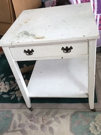"""antique solid wood  end table 22"""" x 22"""""""