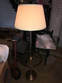 Vintage brass with glass table floor lamp Tuscaloosa