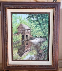 brown wooden framed painting of house Cypress