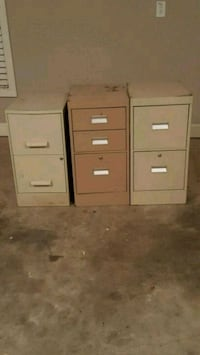 two white and brown wooden 4-drawer filing cabinet Murfreesboro, 37130