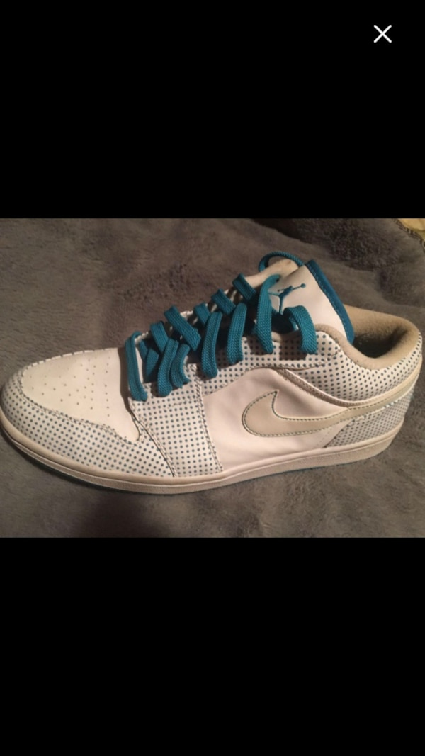 official photos c2ff0 467e1 Used Nike Men s Air Jordan Low Wht  Turq Size 13.5  75 for sale in McDonough