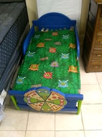 Turtle ninjas toddle bed with Mattress and 3 sets  Pawtucket, 02860