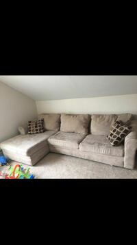 Light colored couch/sectional