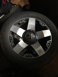 Black and gray car wheel