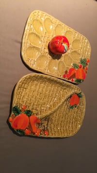 Vintage Thanksgiving deviled egg and cheese dishes San Mateo, 94401