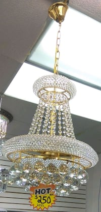 New Sealed in Box Crystal Chandelier