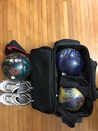 Bowling equipments (3 bowling, size 9 bowling for men, bowling bag stroller, etc) Springfield, 22151