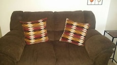 brown cushioned couch
