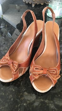 STS Leather sling back size 39 Fort McMurray, T9K 0Z8