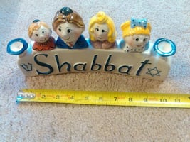 Shabbat Candle Holder Stick Beautiful New Candelabra Menorah - $20