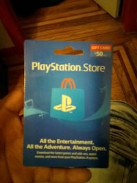 Playstation Store Gift Card.