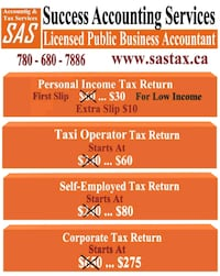Tax, Bookkeeping, Accounting, Payroll, and GST  Edmonton, T5Z 2M3