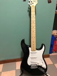 Black and white stratocaster electric guitar Easton, 06612