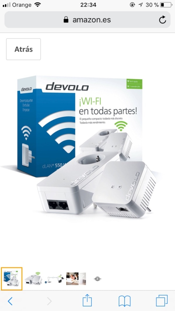 Adaptador de red Devolo PLC