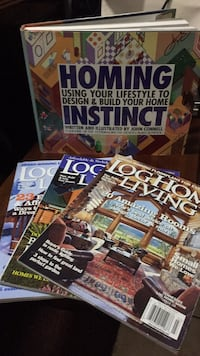 Home Instinct book and  3 Log  Home Living magazines Waynesboro, 17268