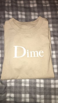 Beige Dime Classic Logo Tee size Small